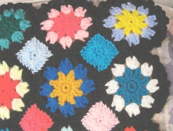 Multi Color Floral Afghan
