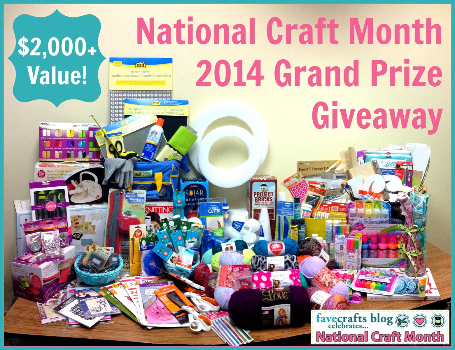 National Craft Month Grand Prize with text 30+ Knit and Crochet Sock Patterns