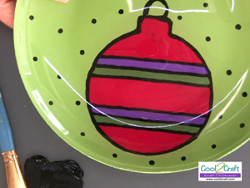 Reverse Painted Holiday Ornament Plate