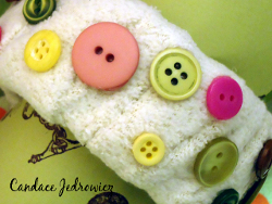 Fabric Button Bracelet
