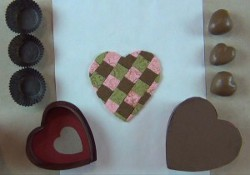 Heart Shaped Polymer Clay Tiled Chocolate Box
