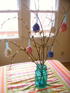 Pottery Barn Style Floral Easter Eggs
