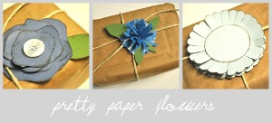 Pretty Paper Bow Flowers