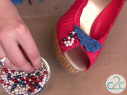 Upcycled Patriotic Shoes