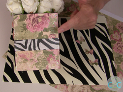 Floral and Zebra Desk Set