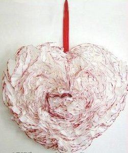 Valentine's Day Coffee Filter Wreath