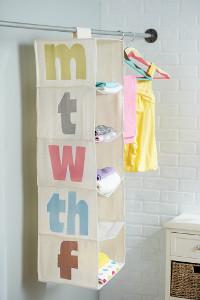 Days of the Week Wardrobe Organizer
