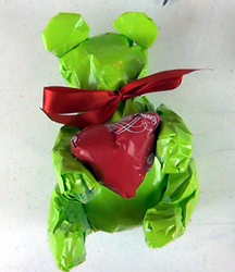 Teddy Bear Wrapping Paper Sculpture