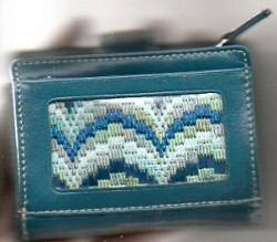 Bargello Needlepoint Wallet