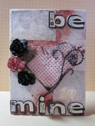 Be Mine Decoupage  Canvas