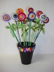 Bright Button Flowers
