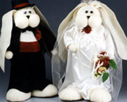Bunny Bride and Groom