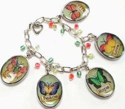 butterfly charm bracelet