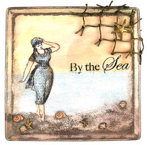 By the Sea Vintage Plaque