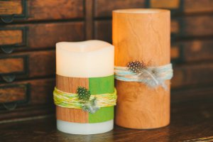 candle1  1   The Giveaway to DIY For + Wood Veneer Wrapped Candle