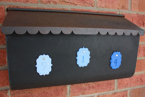 Polymer Clay Mailbox Numbers