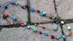 colorful beaded knot necklace Beads for the Big Easy: 23 Mardi Gras Inspired Jewelry Making Ideas!