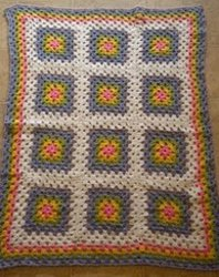 Crochet Rainbow Blocks Blanket