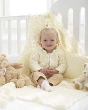 Lace Baby Jacket and Blanket