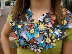 Upcyced Denim Flower Embellishments