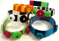 felted water bottle bracelets