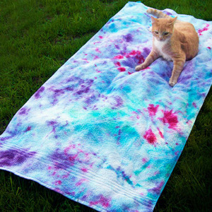 Field of Fireworks Tie Dye Beach Towel