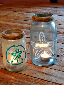 Painted Beach Votives