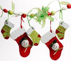 Foam Stocking Garland
