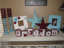 Glittery Freedom Blocks