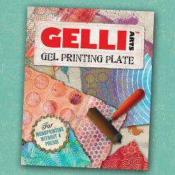 Gelli Arts Gel Printing Plate and Brayer