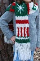 Knit Holiday Scarf