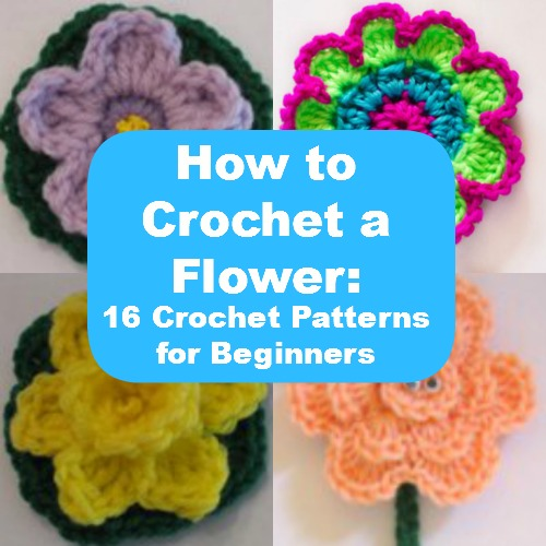 How To Crochet For Beginners : How to Crochet a Flower: 16 Crochet Patterns for Beginners ...