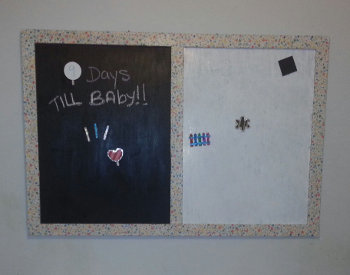 Hanging Magnetic and Dry Erase Board