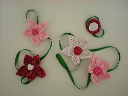 Pretty Fabric Flowers