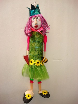 Recycled Glue Muse Doll