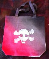 Skull and Cross Bones Trick-or-Treat Bag