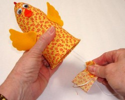 Whimsical Chicken Noisemaker