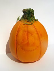 Halloween Paperclay Pumpkin