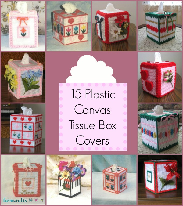 15 Plastic Canvas Tissue Box Covers