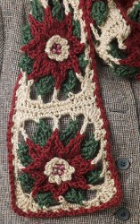 Poinsettia Scarf | Crochet patterns | Pinterest