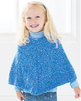 Easy Kid's Knit Poncho