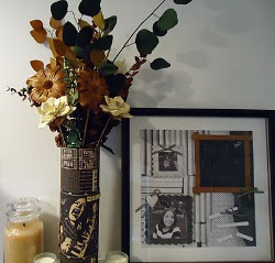 Recycled Floral Home Decor