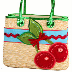 Red and Wild Cherry Purse
