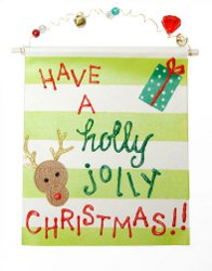 Holly Jolly Christmas Reindeer Sign