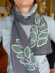 Reverse Applique Scarf