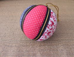 Round Fabric Christmas Ornaments