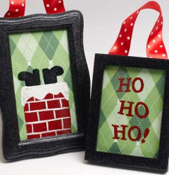 Santa Frame Ornaments