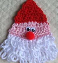 Crochet Santa Ornament