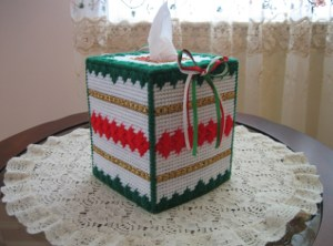 Shells and Bows Tissue Box Cover