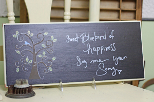 Upcycled Chalkboard Plaque